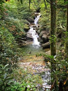 skinny dip falls near blue ridge parkway