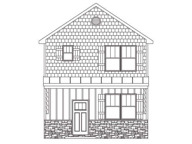 Florence Floor plan new homes in asheville