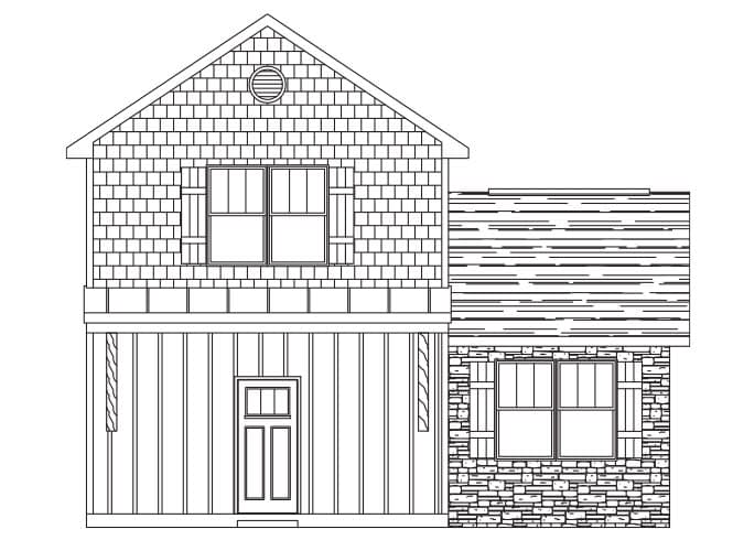 Millwood Floor Plan new homes in asheville